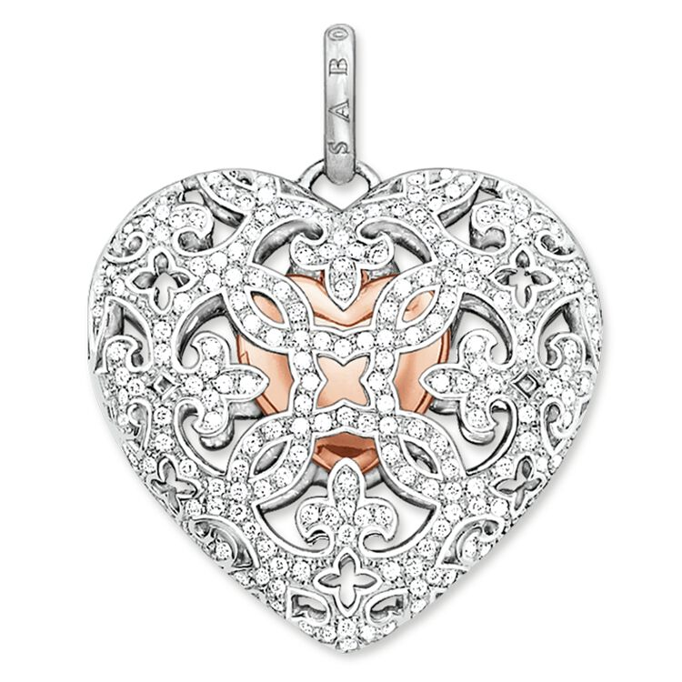 Pendant heart medallion pav pe642 women thomas sabo australia product details the special feature of this jewellery item aloadofball Choice Image