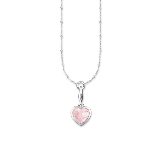 Charm-halsband rosa hjärta ur kollektionen Charm Club i THOMAS SABO:s onlineshop