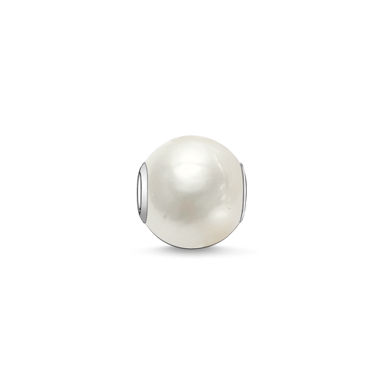 Bead perle blanche de la collection Karma Beads dans la boutique en ligne de THOMAS SABO