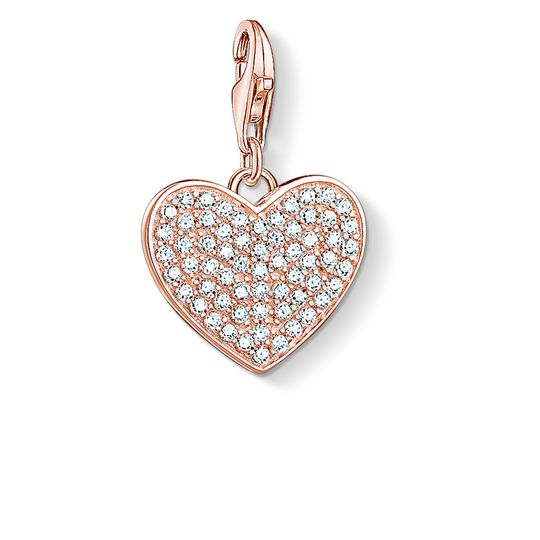 """Charm pendant """"heart pavé"""" from the  collection in the THOMAS SABO online store"""