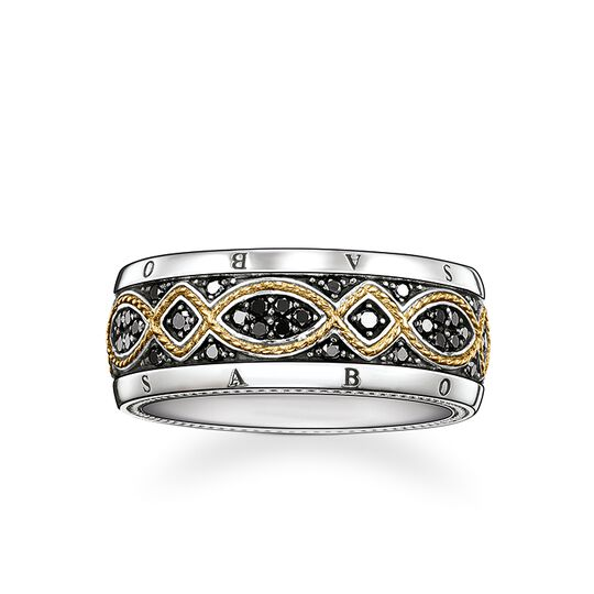 "band ring ""diamond Love Knot"" from the Rebel at heart collection in the THOMAS SABO online store"