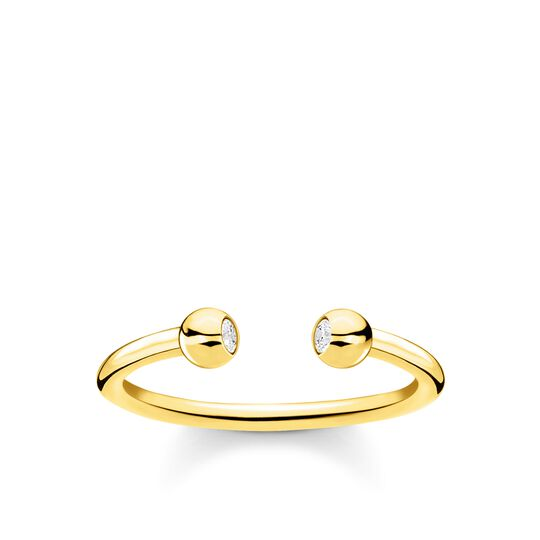 Ring dots stones gold from the Charming Collection collection in the THOMAS SABO online store
