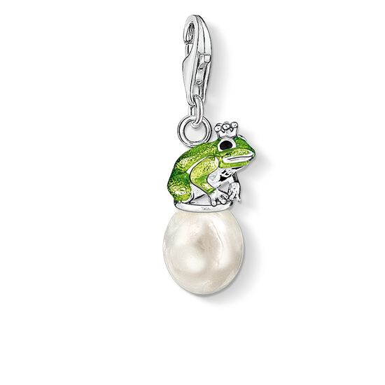 "Charm pendant ""frog on pearl"" from the  collection in the THOMAS SABO online store"