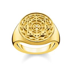 ring Vintage compass gold from the Glam & Soul collection in the THOMAS SABO online store