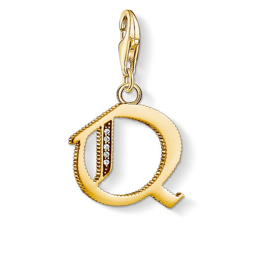 Charm pendant letter Q gold from the Charm Club collection in the THOMAS SABO online store