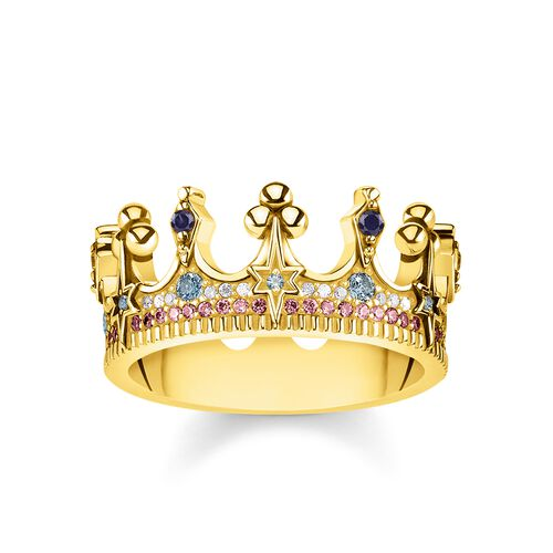 "ring ""crown gold"" from the Glam & Soul collection in the THOMAS SABO online store"