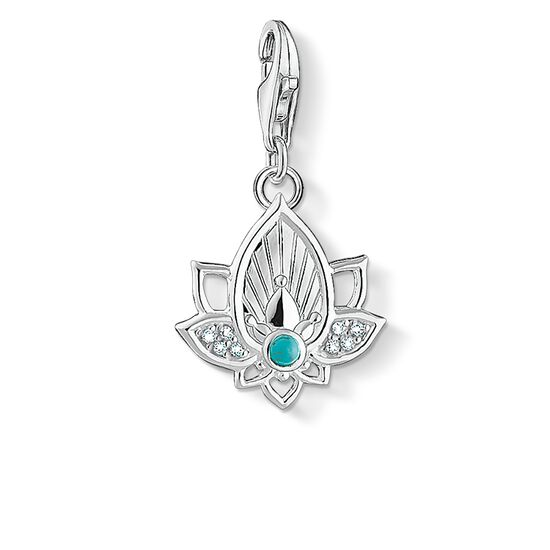 "Charm pendant ""lotus flower"" from the  collection in the THOMAS SABO online store"
