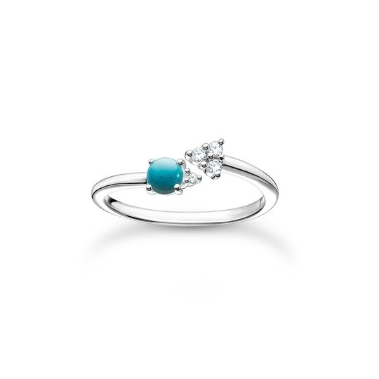 Ring arrow turquoise stone from the Charming Collection collection in the THOMAS SABO online store