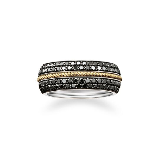 bague ruban diamants noirs de la collection  dans la boutique en ligne de THOMAS SABO