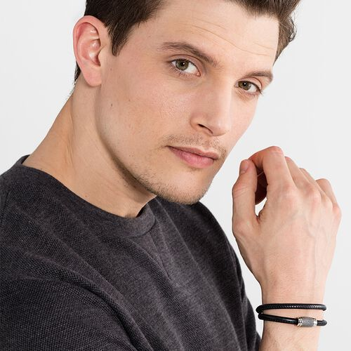 """leather strap """"black Kathmandu"""" from the Rebel at heart collection in the THOMAS SABO online store"""