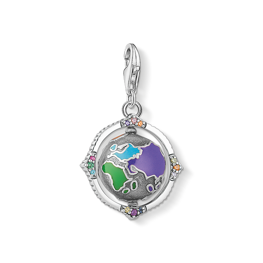 Charm pendant Vintage globe colourful from the Charm Club collection in the THOMAS SABO online store