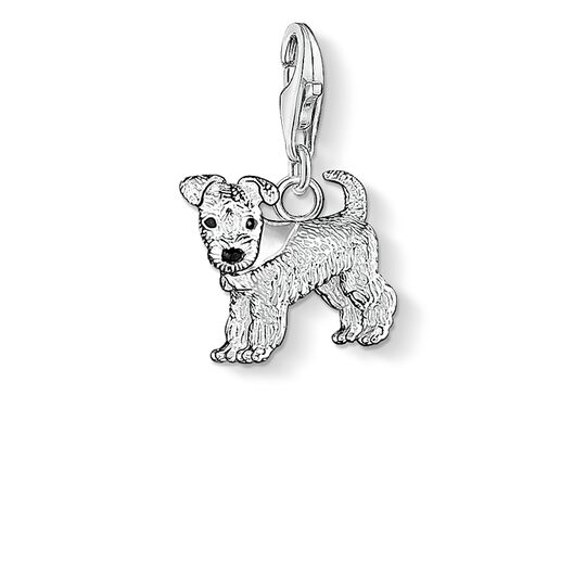 Charm pendant dog from the Charm Club collection in the THOMAS SABO online store