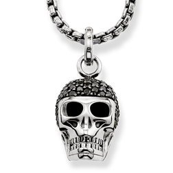 "necklace ""diamond skull"" from the Rebel at heart collection in the THOMAS SABO online store"