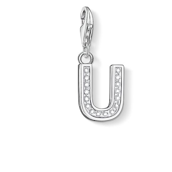 "Charm pendant ""letter U"" from the  collection in the THOMAS SABO online store"