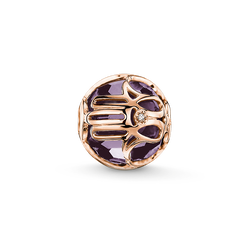 Bead purple Hand of Fatima from the Karma Beads collection in the THOMAS SABO online store