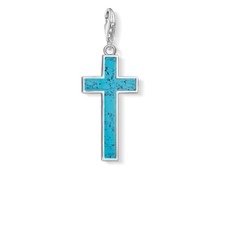 "Charm pendant ""Turquoise cross"" from the  collection in the THOMAS SABO online store"