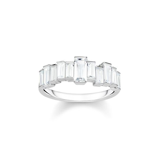 ring White stones baguette cut from the  collection in the THOMAS SABO online store