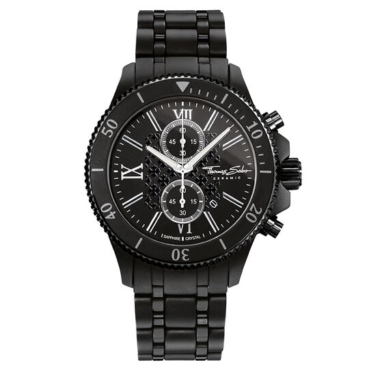 men's watch REBEL CERAMIC from the Rebel at heart collection in the THOMAS SABO online store