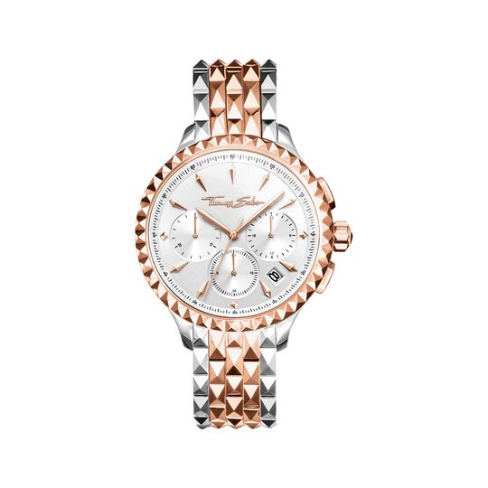Women's watch REBEL AT HEART WOMEN CHRONOGRAPH rosegold silver from the  collection in the THOMAS SABO online store
