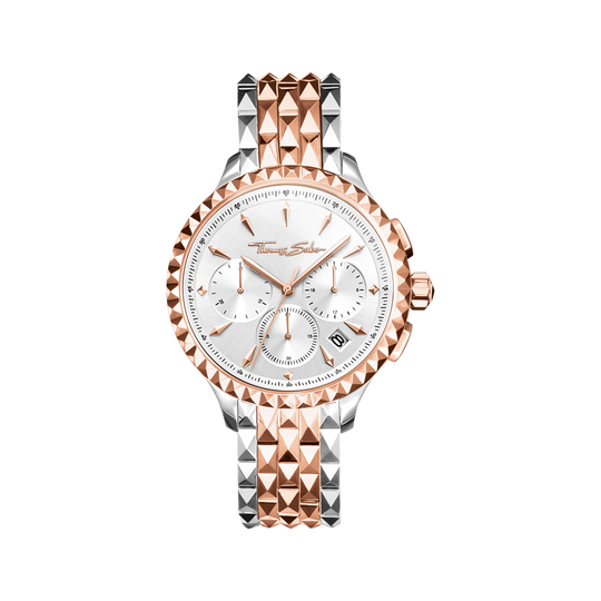 Damenuhr REBEL AT HEART WOMEN CHRONOGRAPH roségold silber aus der Rebel at heart Kollektion im Online Shop von THOMAS SABO