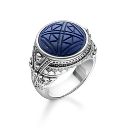 ring ethno skulls blue from the Rebel at heart collection in the THOMAS SABO online store