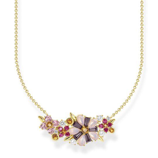 Halsband Blommor stenar i färg guld ur kollektionen  i THOMAS SABO:s onlineshop