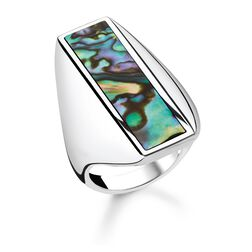 """ring """"abalone mother-of-pearl"""" from the Glam & Soul collection in the THOMAS SABO online store"""