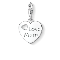 Charm pendant LOVE MUM from the  collection in the THOMAS SABO online store