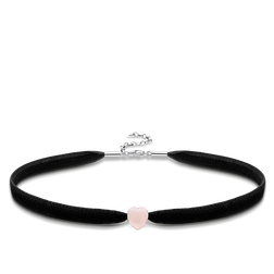 "Choker ""pink heart "" from the Glam & Soul collection in the THOMAS SABO online store"