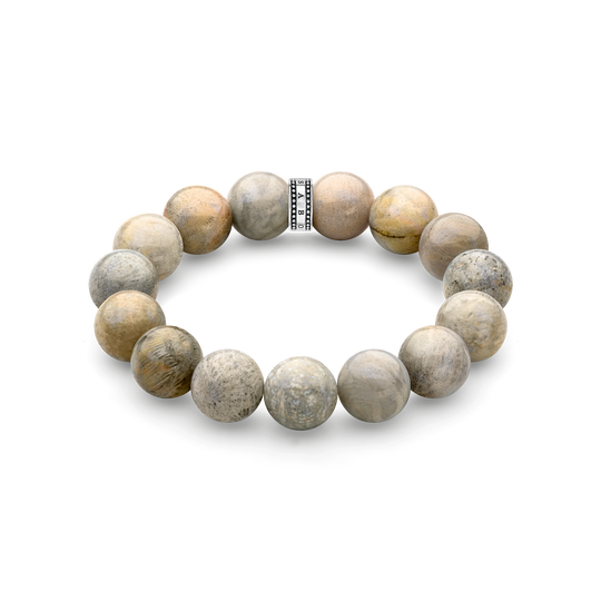 power bracelet beige from the Rebel at heart collection in the THOMAS SABO online store