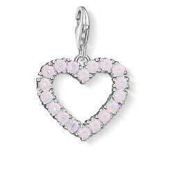 Charm-Anhänger Herz mit pinken Steinen aus der  Kollektion im Online Shop von THOMAS SABO