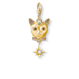 Charm pendant Cat gold from the Charm Club Collection collection in the THOMAS SABO online store
