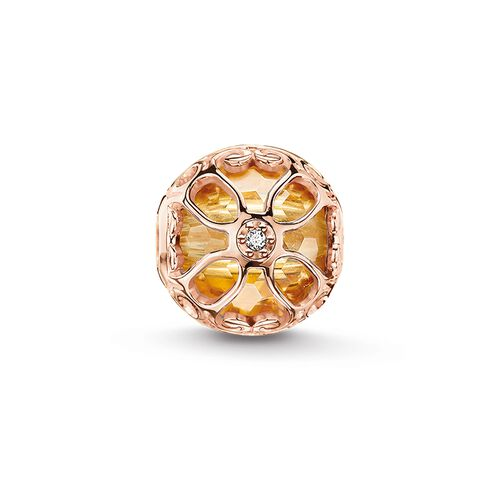 "Bead ""fleur de lotus orange"" de la collection Karma Beads dans la boutique en ligne de THOMAS SABO"