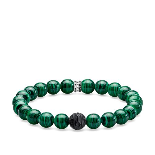 """bracelet """"Black Cat green"""" from the Rebel at heart collection in the THOMAS SABO online store"""