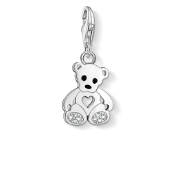Charm pendant teddy bear with heart from the Charm Club Collection collection in the THOMAS SABO online store