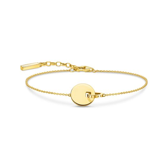 bracelet Together coin with gold-coloured ring from the  collection in the THOMAS SABO online store