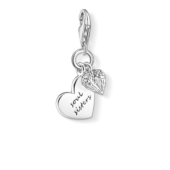 Charm pendant soul sisters 1316 charm club thomas sabo charm pendant quotsoul sistersquot from the collection in the thomas sabo mozeypictures Choice Image