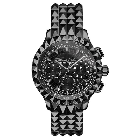 men's watch Rebel at Heart Chronograph black from the Rebel at heart collection in the THOMAS SABO online store