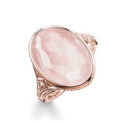 "cocktail ring ""pink"" from the Glam & Soul collection in the THOMAS SABO online store"
