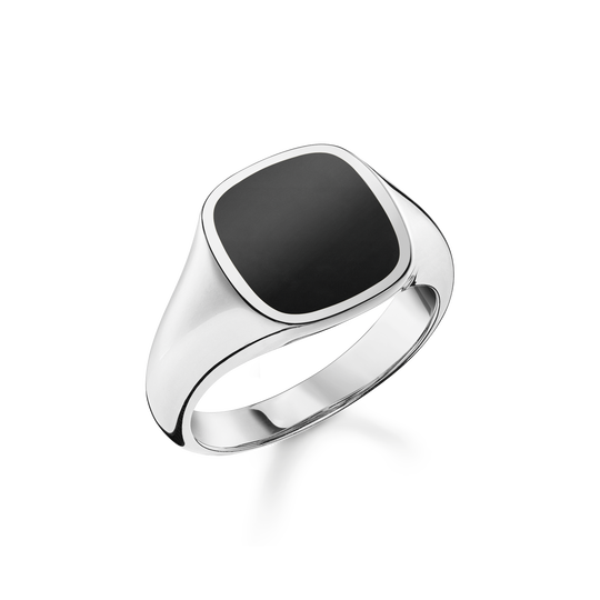 Bague classic noir de la collection Rebel at heart dans la boutique en ligne de THOMAS SABO