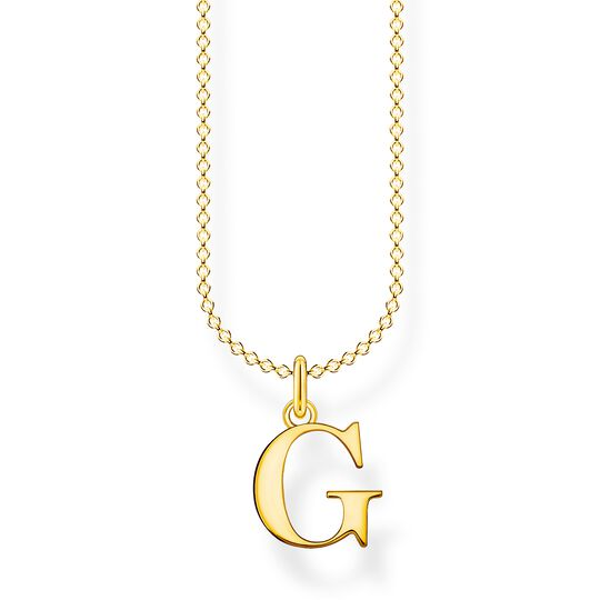 Necklace letter G gold from the Charming Collection collection in the THOMAS SABO online store