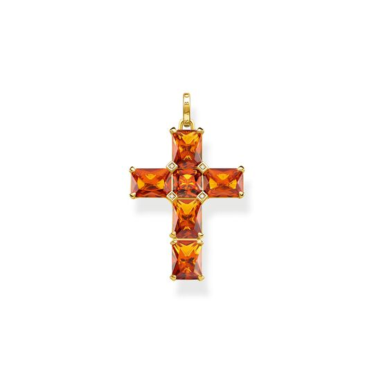 Pendant cross orange stones from the  collection in the THOMAS SABO online store
