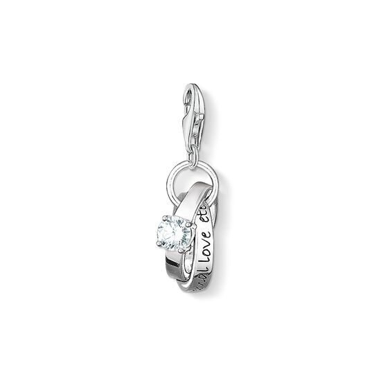 Charm pendant wedding rings from the Charm Club collection in the THOMAS SABO online store