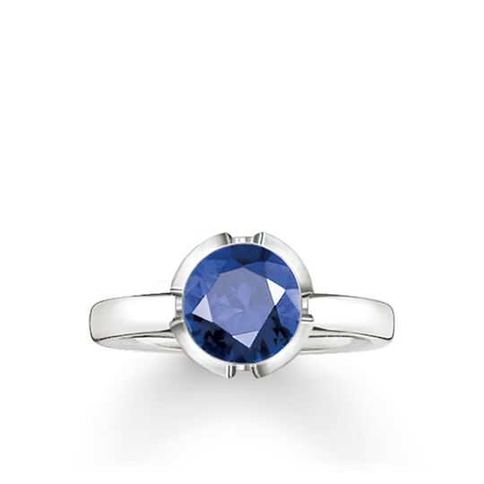 "solitaire ring ""Signature Line dark blue small"" from the Glam & Soul collection in the THOMAS SABO online store"