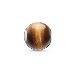 Bead marron de la collection Karma Beads dans la boutique en ligne de THOMAS SABO