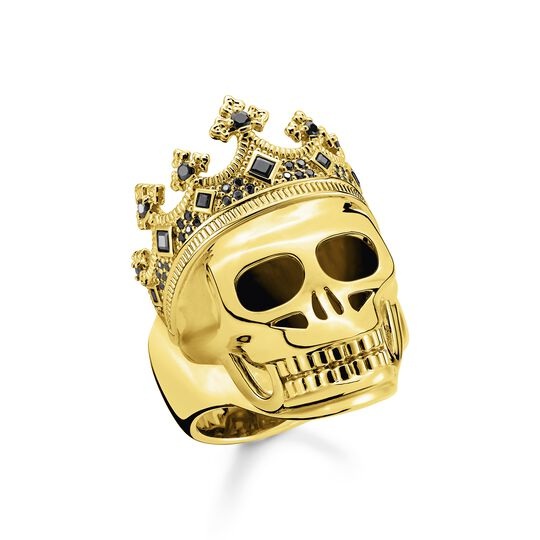 Ring skull King gold from the  collection in the THOMAS SABO online store