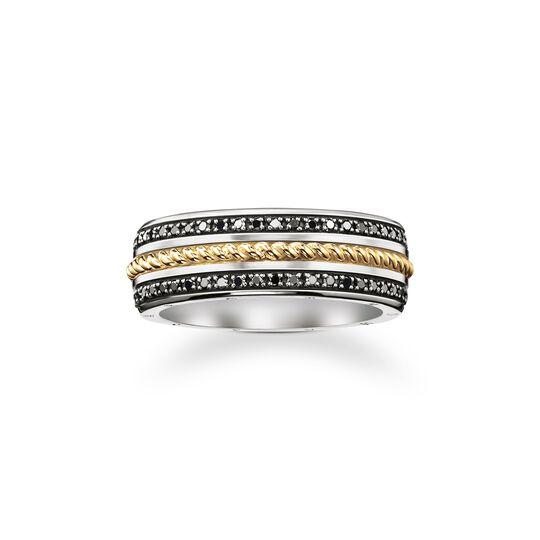 bague ruban diamants noirs de la collection  dans la boutique en ligne de THOMAS SABO