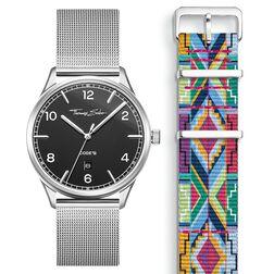 SET CODE TS Reloj negro & correa patrón colorido de la colección  en la tienda online de THOMAS SABO