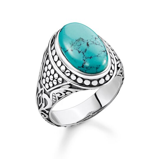 bague turquoise de la collection Rebel at heart dans la boutique en ligne de THOMAS SABO
