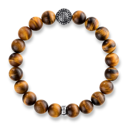 "bracelet ""Ethnic tiger's eye Brown"" from the Glam & Soul collection in the THOMAS SABO online store"